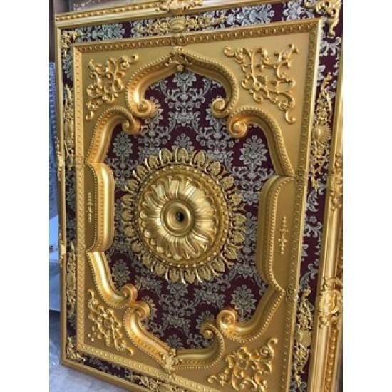 Altın Bordo Dikdörtgen Saray Tavan 120*160 cm (DD120160-AB)