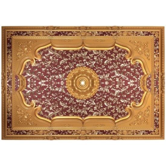Altın Bordo Dikdörtgen Saray Tavan 140*200 cm (DD140200-AB)