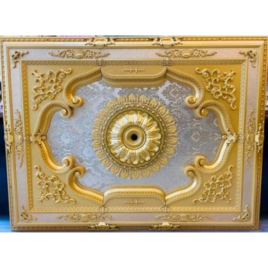 Altın Dikdörtgen Saray Tavan 120*160 cm (DD120160-A)
