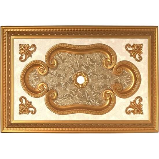 Altın Dikdörtgen Saray Tavan 60*90 cm (DD6090-A)