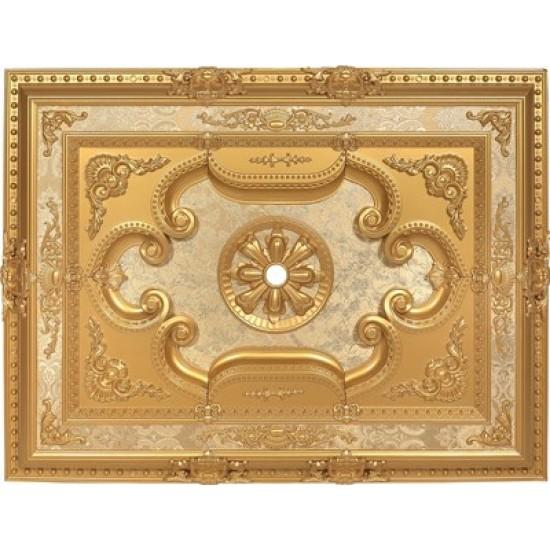 Altın Dikdörtgen Saray Tavan 90*120 cm (DD90120-A)