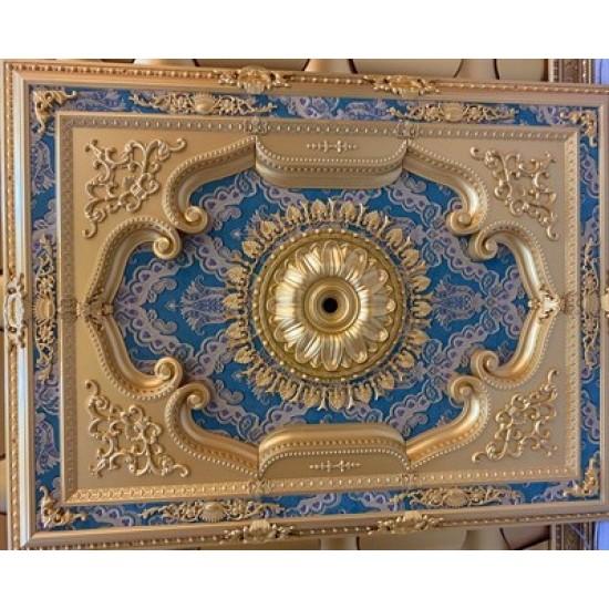 Altın Zümrüt Yeşil Dikdörtgen Saray Tavan 120*160 cm (DD120160-AY)