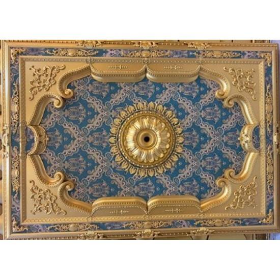 Altın Zümrüt Yeşil Dikdörtgen Saray Tavan 140*200 cm (DD140200-AY)
