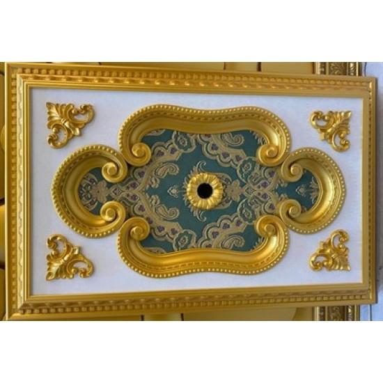 Altın Zümrüt Yeşil Dikdörtgen Saray Tavan 60*90 cm (DD6090-AY)