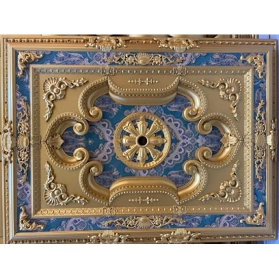 Altın Zümrüt Yeşil Saray Tavan Dikdörtgen 90*120 cm (DD90120-AY)