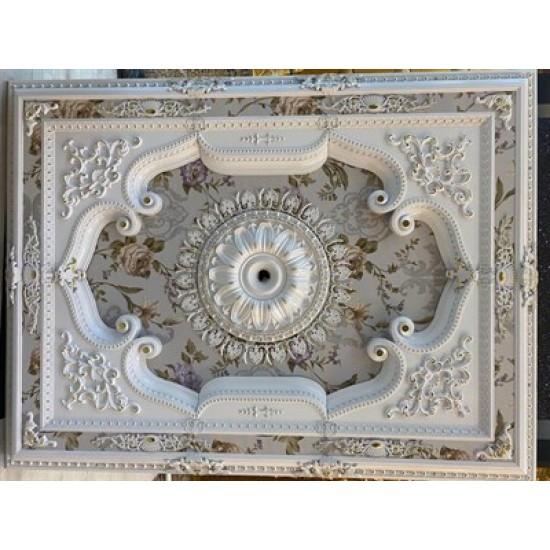Beyaz Altın Dikdörtgen Saray Tavan 120*160 cm (DD120160-BA)