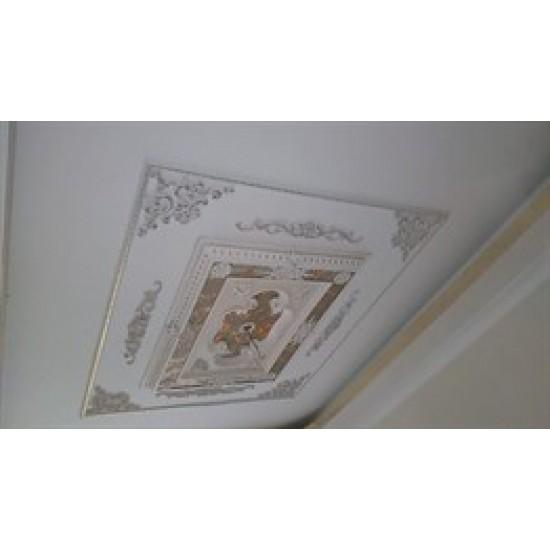 Beyaz Altın Dikdörtgen Saray Tavan 90*120 cm (DD90120-BA)