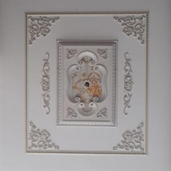 Beyaza Altın Dikdörtgen Saray Tavan 60*90 cm (DD6090-BA)