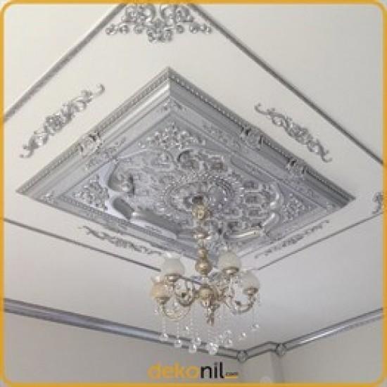 Gümüş Dikdörtgen Saray Tavan 120*160 cm (DD120160-G)