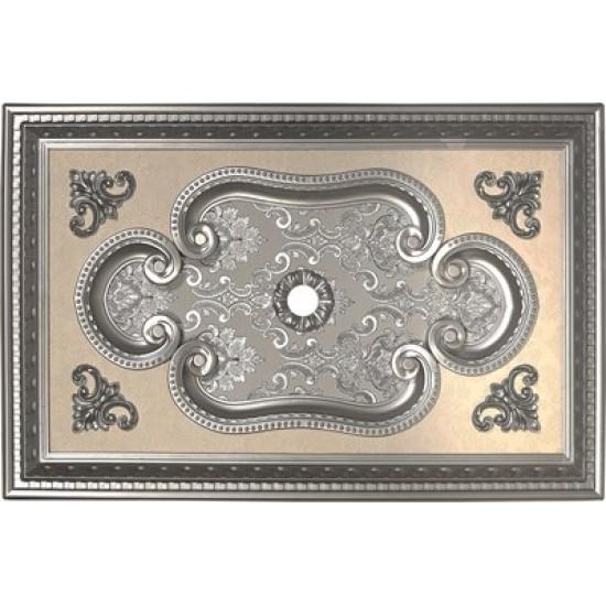 Gümüş Dikdörtgen Saray Tavan 60*90 cm (DD6090-G)