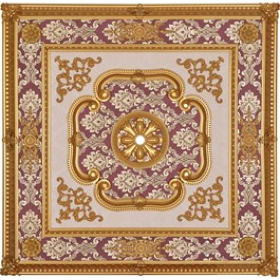 Altın Bordo Kare Saray Tavan 120*120 cm (DK120-AB)