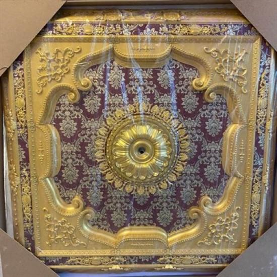 Altın Bordo Kare Saray Tavan 150*150 cm (DK150-AB)