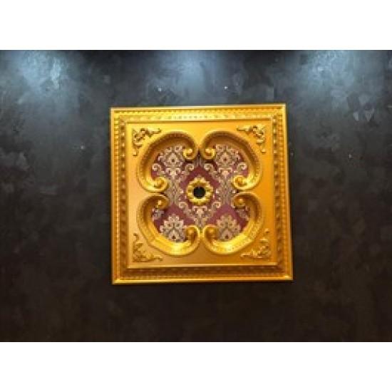 Altın Bordo Kare Saray Tavan 60*60 cm (DK60-AB)