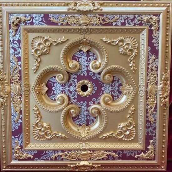 Altın Bordo Kare Saray Tavan 90*90 cm (DK90-AB)