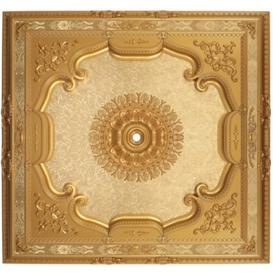 Altın Kare Saray Tavan 150*150 cm (DK150-A)