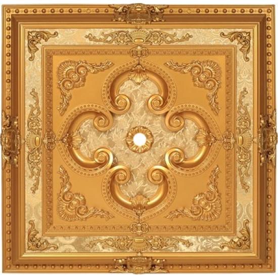 Altın Kare Saray Tavan 90*90 cm (DK90-A)