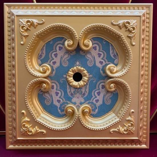 Altın Zümrüt Yeşil Kare Saray Tavan 60*60 cm (DK60-AY)