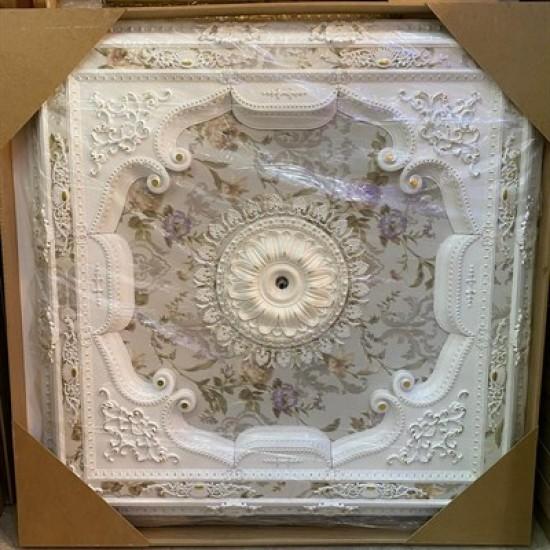 Beyaza Altın Kare Saray Tavan 150*150 cm (DK150-BA)