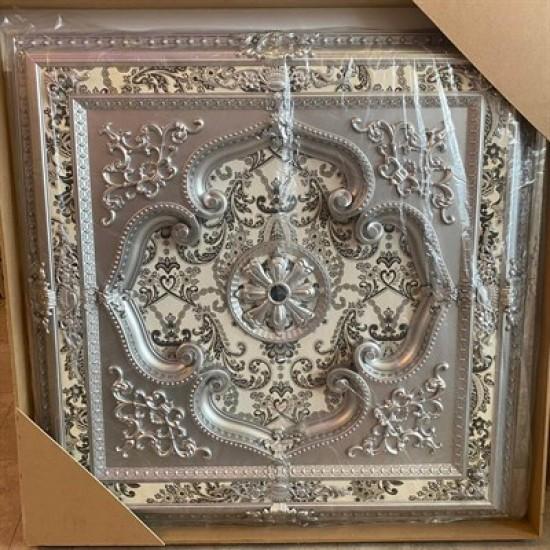 Gümüş Kare Saray Tavan 120*120 cm (DK120-G)
