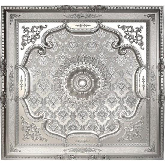 Gümüş Kare Saray Tavan 150*150 cm (DK150-G)