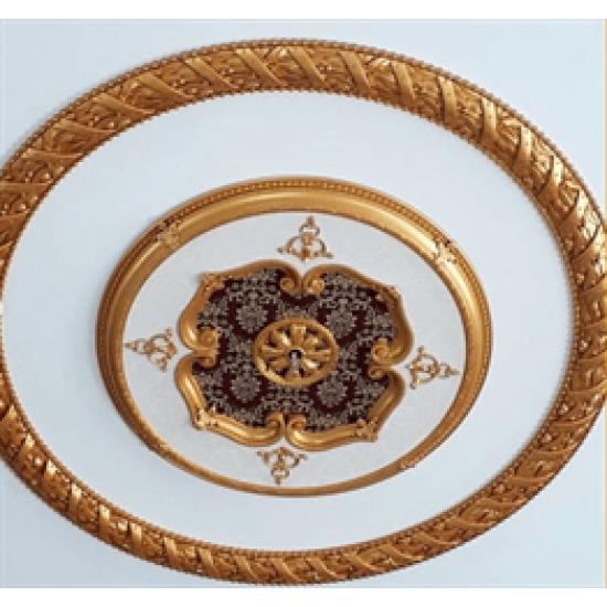 Altın Bordo Oval Saray Tavan 120cm (DO120-AB)