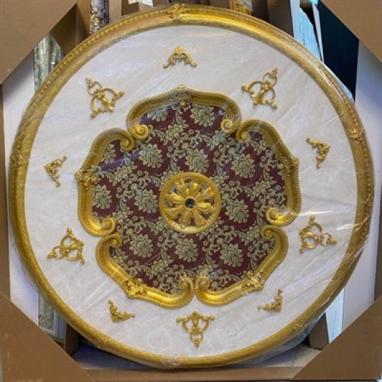 Altın Bordo Oval Saray Tavan 150cm (DO150-AB)