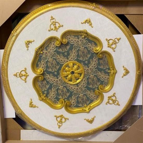 Altın Zümrüt Yeşil Oval Saray Tavan 150cm (DO150-AY)