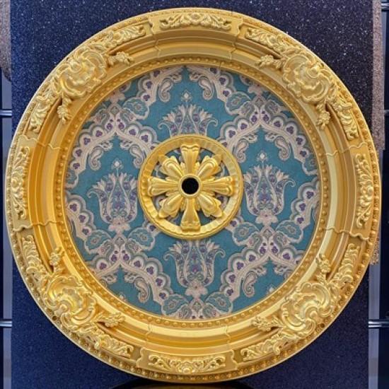 Altın Zümrüt Yeşil Oval Saray Tavan 90cm (DO90-AY)