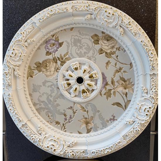 Beyaz Altın Oval Saray Tavan 90cm (DO90-BA)