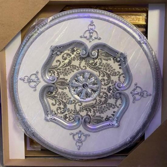 Gümüş Oval Saray Tavan 120 cm (DO120-G)