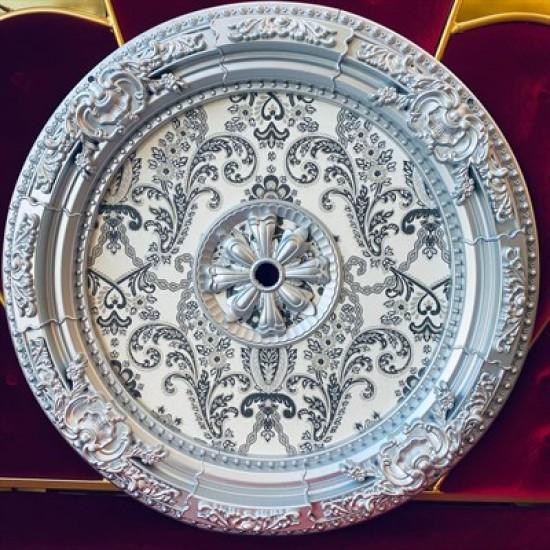 Gümüş Oval Saray Tavan 90cm (DO90-G)