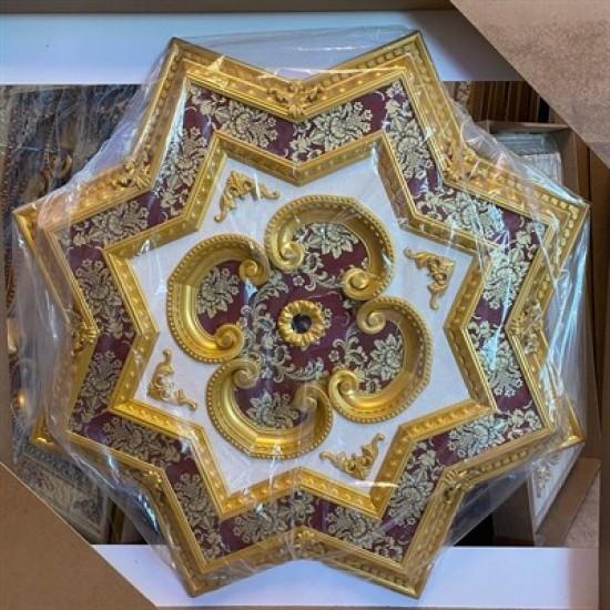 Altın Bordo Yıldız Saray Tavan 120 cm (DY120-AB)