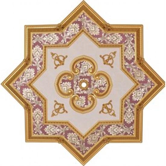 Altın Bordo Yıldız Saray Tavan 150 cm (DY150-AB)