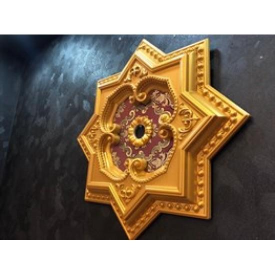 Altın Bordo Yıldız Saray Tavan 60cm (DY60-AB)