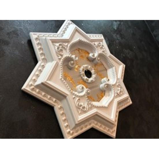 Beyaza Altın Yıldız Saray Tavan 60cm (DY60-BA)