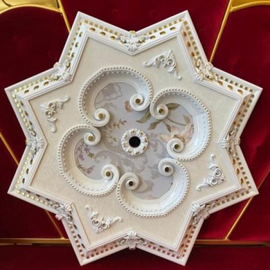 Beyaza Altın Yıldız Saray Tavan 90 cm (DY90-BA)