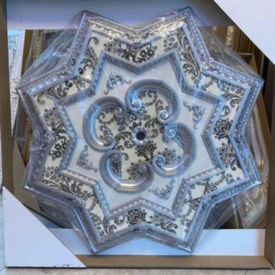 Gümüş Yıldız Saray Tavan 120 cm (DY120-G)