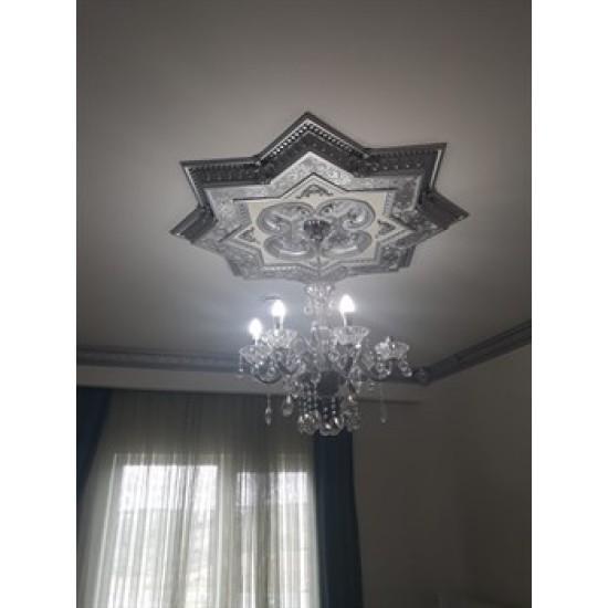 Gümüş Yıldız Saray Tavan 90 cm (DY90-G)
