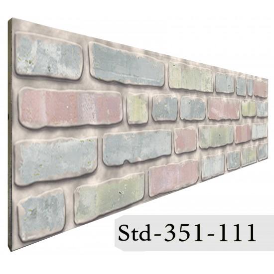 351-111 Strotex Kırık Tuğla Duvar Paneli 50x120 Ölçüleri