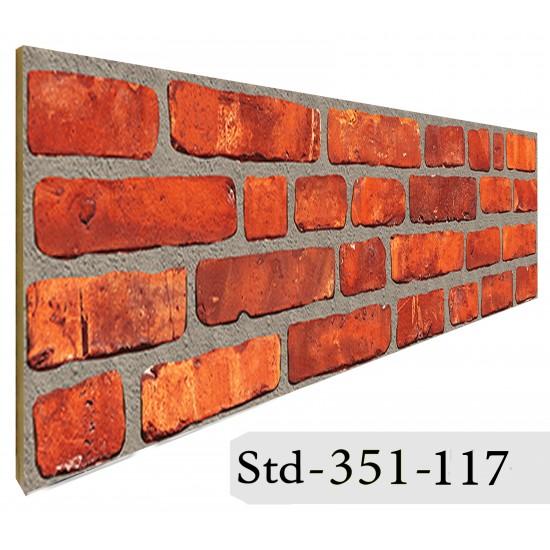 351-117 Strotex Kırık Tuğla Duvar Paneli 30x120 Ölçüleri