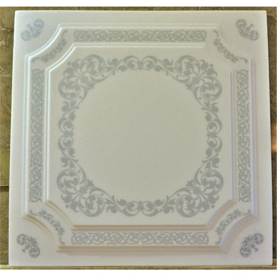 Gümüş 50x50 cm Tavan & Duvar paneli (F1-002 GÜMÜŞ)