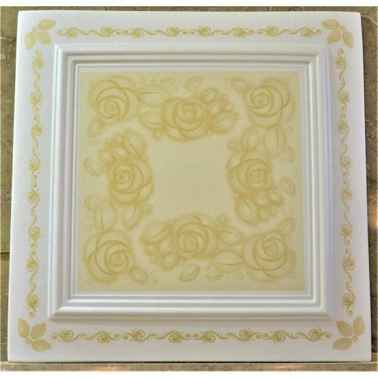 Altın 50x50 cm Tavan & Duvar paneli (RN-03 Altın)