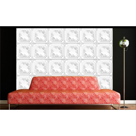 Gümüş 50x50 cm Tavan & Duvar paneli (Q1-013 GÜMÜŞ)