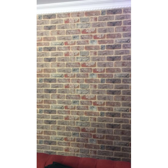651-205  Strotex Kırık Tuğla Duvar Paneli 50x120 Ölçüleri