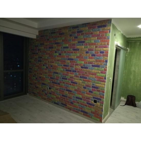 651-221 Strotex Kırık Tuğla Duvar Paneli 50x120 Ölçüleri
